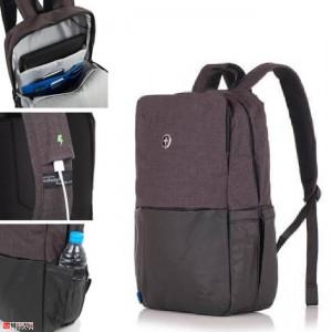 Бизнес Раница за лаптоп с USB кабел, подходяща и за спорт и туризъм, 20л, SWISSDIGITAL